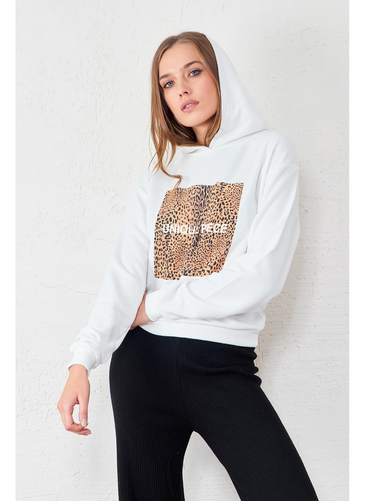 EKA Leopar Baskılı Sweatshirt